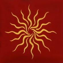 Tapis de cartes rouge - Soleil