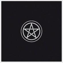 Tapis de cartes noir - Pentagramme